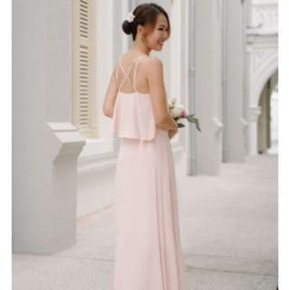 Threadtheory From This Moment Dress in Nude Pink (S)