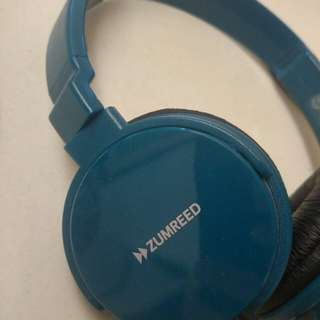 ZUMBEED藍綠色插線耳機