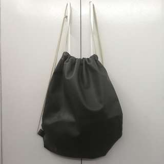 Leatherette Drawstring Bag