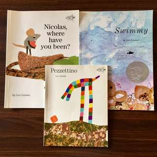 3 X Leo Lionni Books. Swimmy. Nicholas, Where Have You Been? , Pezzettino
