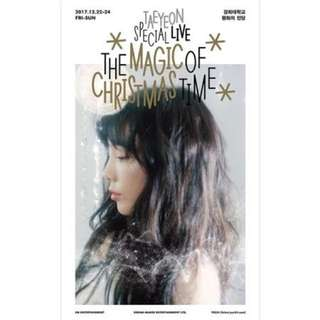 Taeyeon special live : the magic of christmas time
