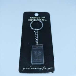I Love You Crystal Keychain