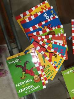 Dr suess books, fox in socks, the cat in the hat, and more