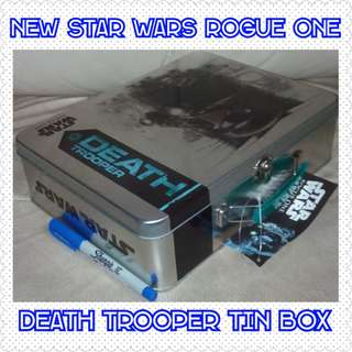 New Star Wars Rogue 1 Death Trooper Tin Lunch Box