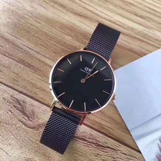 Daniel Wellington 32mm petite black rose gold 00100201