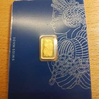 PAMP 1g Gold bar