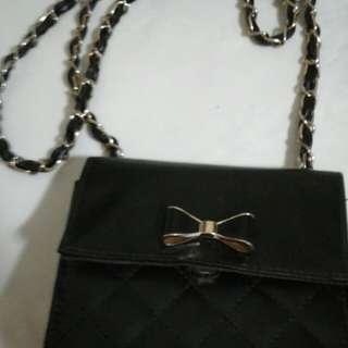 Black and Gold Ribbon handbag
