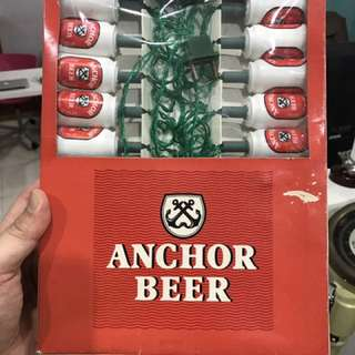 Vintage Anchor Beer Lights