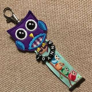 Owl Customize Name Tag