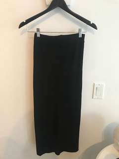 Oak and Fort black pencil skirt