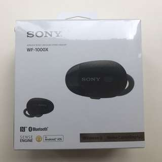 Sony WF-1000X wireless black headset