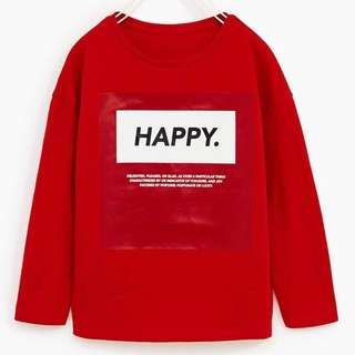 Authentic BNWT ZARA Kids 'Happy' Shirt