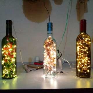 Lampu LED Botol - LED Bottle Lamp with USB Connection