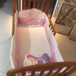 Price reduce to $100 !!Mama Love Baby cot 5 in 1