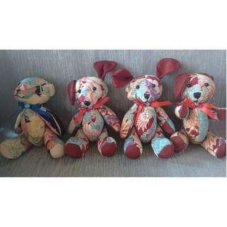 Stuffed toy lot of 4