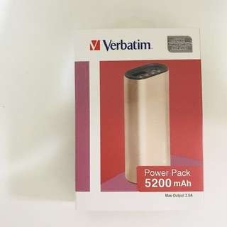 (全新正貨) Verbatim Power Pack 5200mAh 尿袋 手提叉電器 金色