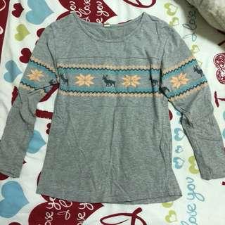 Grey Deer Long Shirt 灰色聖誕鹿長袖衫
