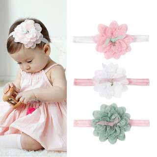 Baby Girl Headband - Flower lace