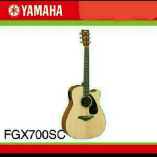 brand new acoustic guitar with built in tuner
