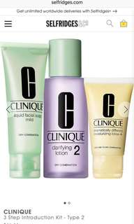 Clinique 3 Step Introduction Kit Type 2