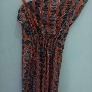 Dress Batik one shoulder
