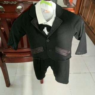 Black suit for baby boys