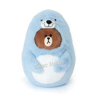 (現貨)🆕🇰🇷LINE Friends Brown Doll 28cm 熊大海獅公仔