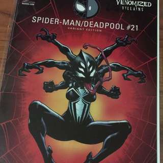 Marvel Spider-Man/Deadpool #21 Venomized Villains Variant