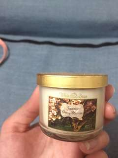 Bath and body works cherry blossom mini candle
