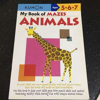 My Book of Mazes Animals