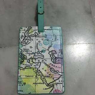 Old map design luggage tag