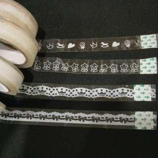 Transparent design tape instock