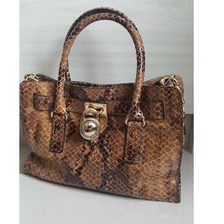 Original Michael Kors Leather Handbag (W 12.5 inch × H 14 inch)