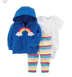 *24M* Brand New Carter's 3-Piece Little Jacket Set For Baby Girl