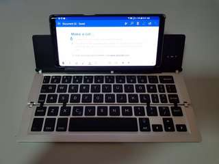 Bluetooth Foldable Aluminum Keyboard