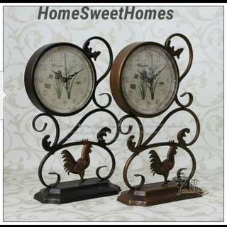 Country Metal Rooster Clock's