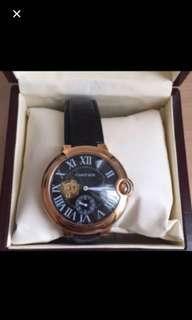 Jam tangan Cartier mirror , premium quality, tidak luntur