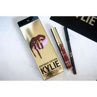 Kylie Matte Lipstick and Lip Liner Kit (Gold)