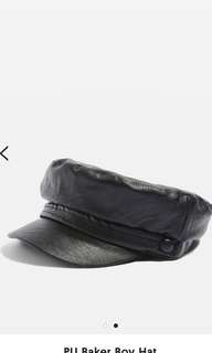 OUT OF STOCK TOPSHOP baker boy leather cap RRP:$30
