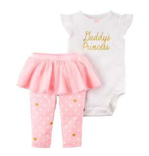 *18M* Brand New Carter's 2-Piece Bodysuit & Tutu Pant Set  For Baby Girl (