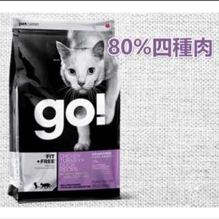 Go! 80%四種肉無穀貓糧-4lb