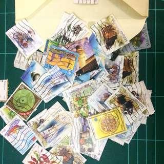 Various Malaysian stamps