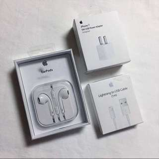 Spare Original Apple Earpods, Earphones, Cable, Adapter