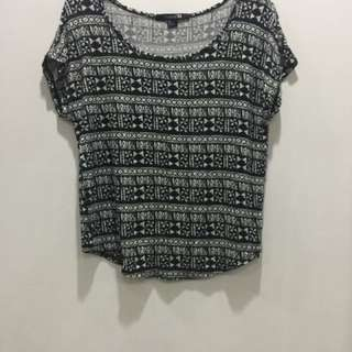 Forever21 aztec cotton top