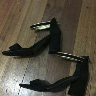 Black Block Shoes Size 39