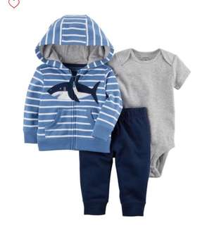 *24M* Brand New Carter's 3-Piece Little Jacket Set For Baby Boy