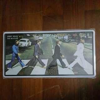 Vintage Looking print of The Beatles on Metal Signboard/Plate