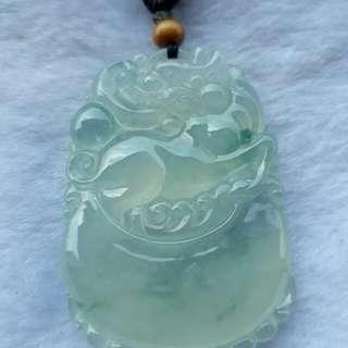 天然緬甸翡翠a貨飄花高冰種  喜詢