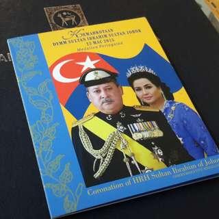 >Medalion peringatan kemahkotan sultan johor utk di jual.....