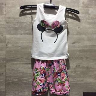 BNWT Minnie Mouse Baby Girl Set